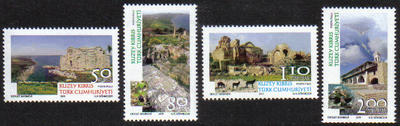North Cyprus Stamps SG 0721-24 2011 Tourism - MINT