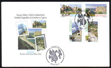 North Cyprus Stamps SG 0721-24 2011 Tourism - Official FDC