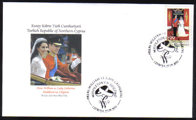 North Cyprus Stamps SG 0728 2011 Royal Wedding Prince William and Miss Cath