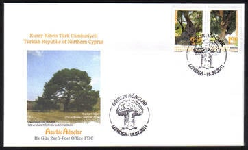 North Cyprus Stamps SG 2011 (e) Century old trees - Official FDC