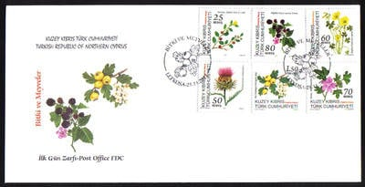 North Cyprus Stamps SG 2011 (g) Plant and Fruit - Official FDC
