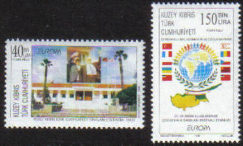 North Cyprus Stamps SG 467-68 1998 Europa festivals - MINT