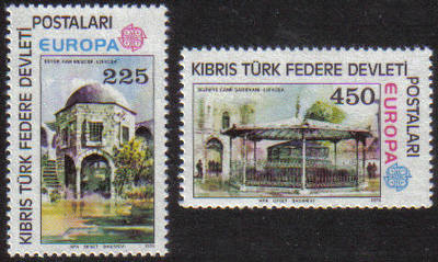North Cyprus Stamps SG 063-64 1978 Europa - MINT