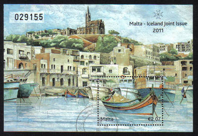 Malta Stamps SG 2011 Malta Iceland Joint issue - USED (e828)