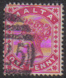 Malta Stamps SG 0022 1890 1 Penny - USED (e855)