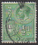 Malta Stamps SG 0194 1930 1/2 Penny - USED (e859)