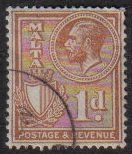 Malta Stamps SG 0195 1930 One Penny - USED (e860)