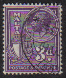 Malta Stamps SG 0199 1930 3 Penny - USED (e861)