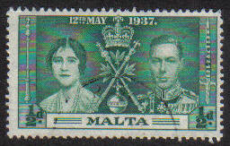 Malta Stamps SG 0214 1937 1/2 Penny - USED (e862)