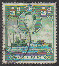 Malta Stamps SG 0218 1938 1/2 Penny - USED (e866)