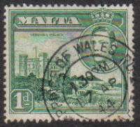 Malta Stamps SG 0219a 1943 1 Penny - USED (e868)
