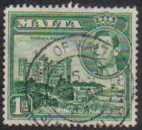 Malta Stamps SG 0219a 1943 1 Penny - USED (e869)