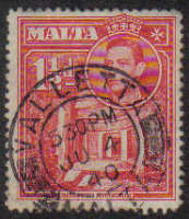 Malta Stamps SG 0220 1938 1 and 1/2 Penny - USED (e870)