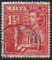 Malta Stamps SG 0220 1938 1 and 1/2 Penny - USED (e871)