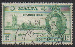 Malta Stamps SG 0232 1946 1 Penny - USED (e873)