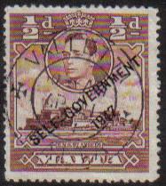 Malta Stamps SG 0235 1948 1/2 Penny - USED (e876)