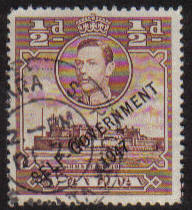 Malta Stamps SG 0235 1948 1/2 Penny - USED (e878)