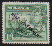 Malta Stamps SG 0236 1948 1 Penny - USED (e880)