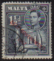 Malta Stamps SG 0237 1948 1 and 1/2 Penny - USED (e882)