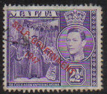 Malta Stamps SG 0239 1948 Two and 1/2 Penny - USED (e885)