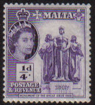 Malta Stamps SG 0266 1956 1/4 Penny - MLH (e888)