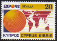 Cyprus Stamps SG 815 1992 Expo 92 Sevilla - MINT