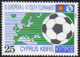 Cyprus Stamps SG 816 1992 10th Under 16 European Football Championship - MI