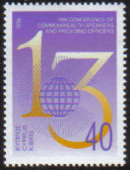 Cyprus Stamps SG 903 1996 13th Conference of Commonwealth Speakers and Pres