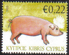 Cyprus Stamps SG 1212 2010 Pig 22c - MINT