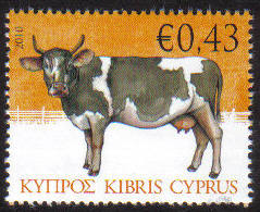Cyprus Stamps SG 1215 2010 Cow 43c - MINT