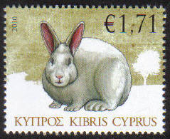 Cyprus Stamps SG 1216 2010 Rabbit 1.71c - MINT