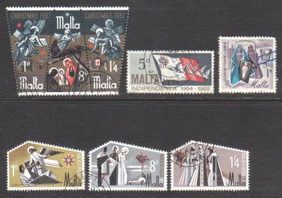 Malta Stamps 1960s Selection - USED (e899)