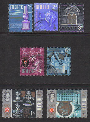 Malta Stamps 1965 Selection - USED (e901)