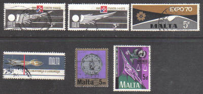 Malta Stamps 1970s Selection - USED (e902)