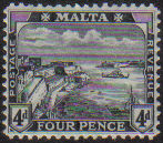 Malta Stamps SG 0079 1915 Four Pence - MH