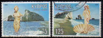 Cyprus Stamps SG 518-19 1979 Aphrodite - USED (e924)
