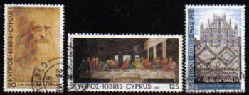Cyprus Stamps SG 569-71 1981 Leanardo Da Vinci - USED (e918)
