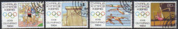 Cyprus Stamps SG 635-38 1984 Los Angeles Olympic Games - USED (e933)