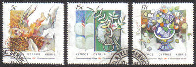 Cyprus Stamps SG 713-15 1987 Christmas - USED (e927)