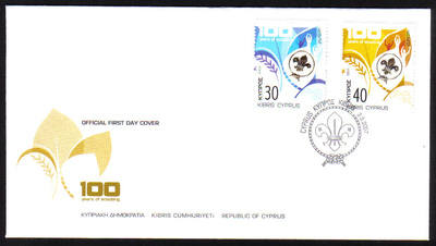 Cyprus Stamps SG 1133-34 2007 Centenary of Scouting - Official FDC