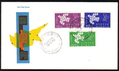 Cyprus Stamps SG 206-08 1962 Europa Doves - Unofficial FDC (e994)