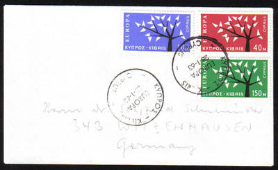 Cyprus Stamps SG 224-26 1963 Europa Tree - Unofficial FDC (e991)