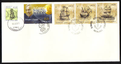 Cyprus Stamps SG 2011 (g) 8th of June issues Tall ships and C Pissarides -