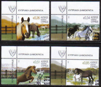 Cyprus Stamps SG 1266-69 2012 Horses - USED (g002)