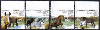 Cyprus Stamps SG 1266-69 2012 Horses - USED (g003)