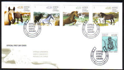 Cyprus Stamps SG 2012 (a) Horses - Unofficial FDC (g016)