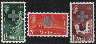 Malta Stamps SG 0283-85 1957 George Cross - MINT