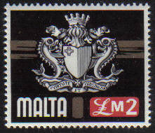Malta Stamps SG 0500 1973 £2 Coat of Arms - MINT