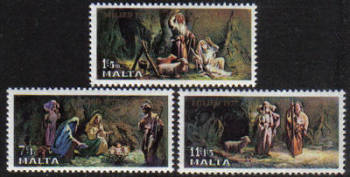 Malta Stamps SG 0589-91 1977 Christmas - MINT