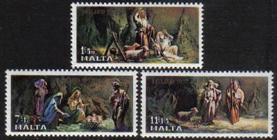 Malta Stamps SG 0589-91 1977 Christmas - MINT